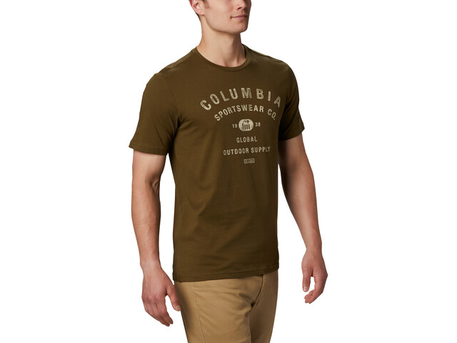 Columbia Path Lake Graphic T-shirt Herrer, new olive csc badge